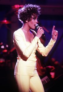 A picture of Whitney Houston from the bodyguard