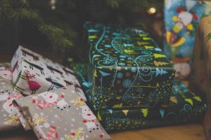 A picture of Christmas presents