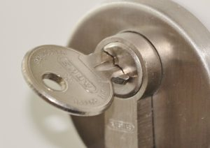 A picture of a door lock
