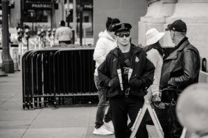 Image of two security guards